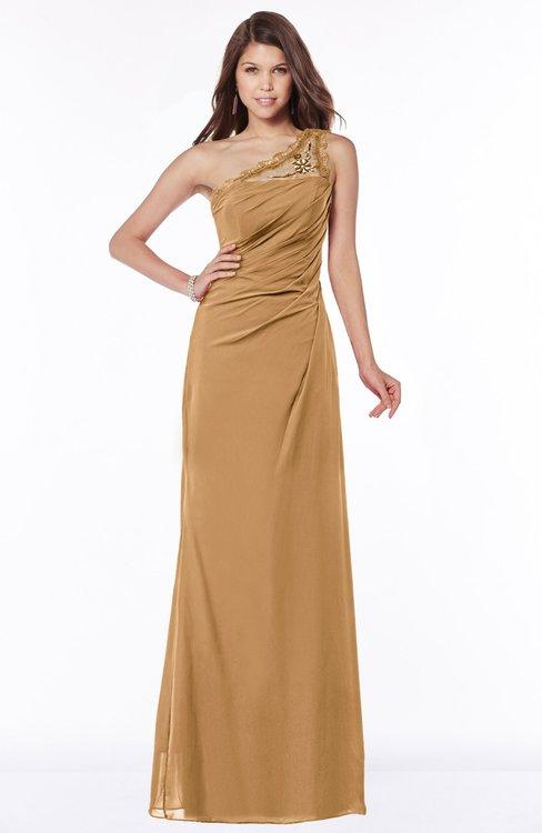 ColsBM Kathleen Doe Mature A-line One Shoulder Half Backless Floor Length Lace Bridesmaid Dresses