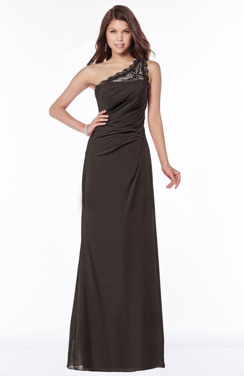 ColsBM Kathleen Java Mature A-line One Shoulder Half Backless Floor Length Lace Bridesmaid Dresses