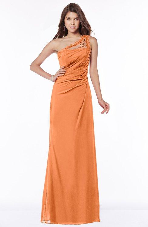 ColsBM Kathleen Mango Mature A-line One Shoulder Half Backless Floor Length Lace Bridesmaid Dresses