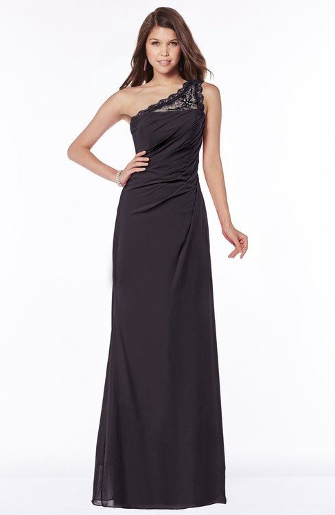 ColsBM Kathleen Perfect Plum Mature A-line One Shoulder Half Backless Floor Length Lace Bridesmaid Dresses