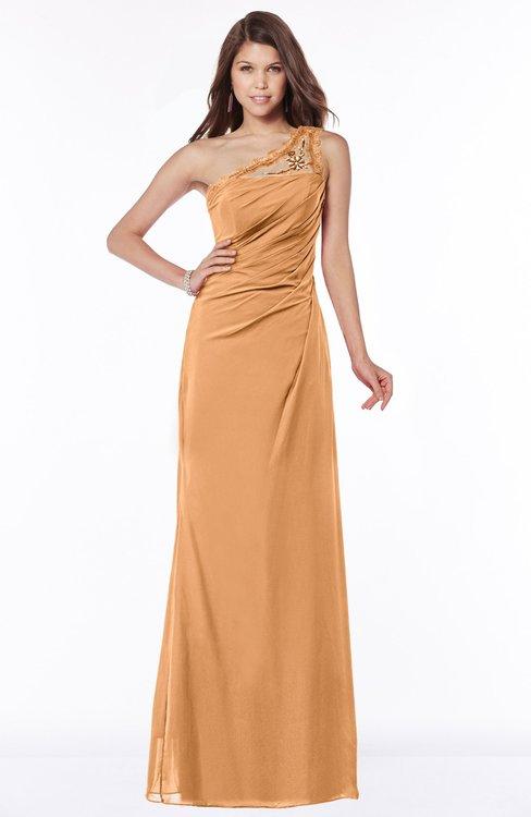 ColsBM Kathleen Pheasant Mature A-line One Shoulder Half Backless Floor Length Lace Bridesmaid Dresses