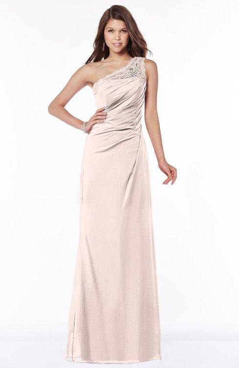ColsBM Kathleen Silver Peony Mature A-line One Shoulder Half Backless Floor Length Lace Bridesmaid Dresses