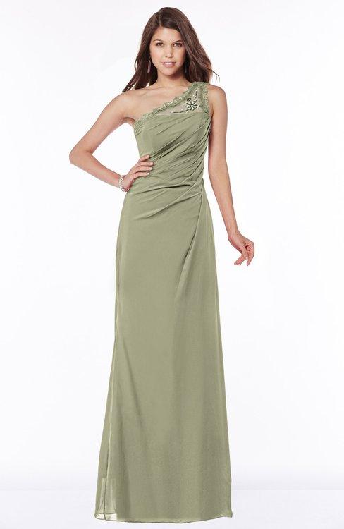 ColsBM Kathleen Sponge Mature A-line One Shoulder Half Backless Floor Length Lace Bridesmaid Dresses