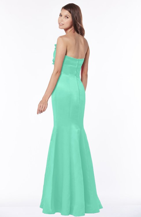 1ad4f146a2c ... ColsBM Linda Mint Green Glamorous Fishtail Sweetheart Half Backless  Satin Flower Bridesmaid Dresses