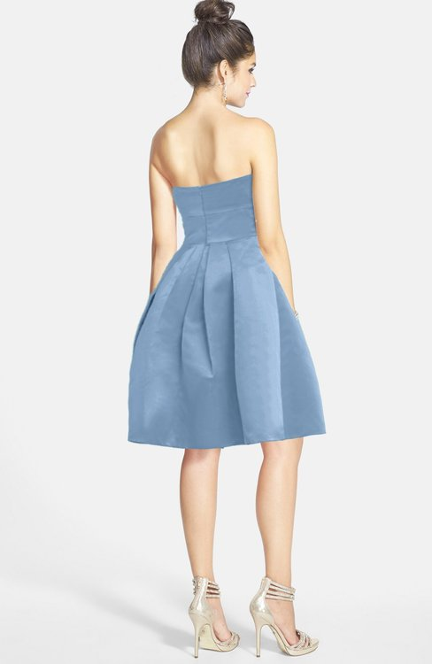 2e012d3e5ba ... ColsBM Jessie Faded Denim Glamorous Strapless Sleeveless Zip up Satin  Knee Length Bridesmaid Dresses