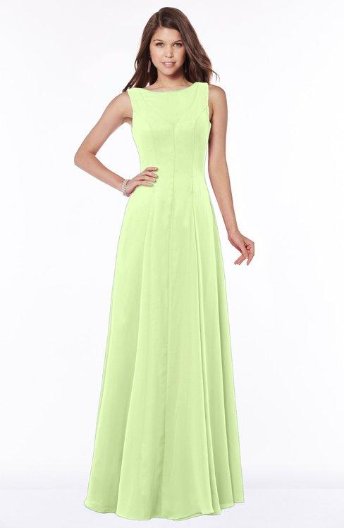ColsBM Anika Butterfly Modest A-line Scoop Sleeveless Zip up Chiffon Bridesmaid Dresses