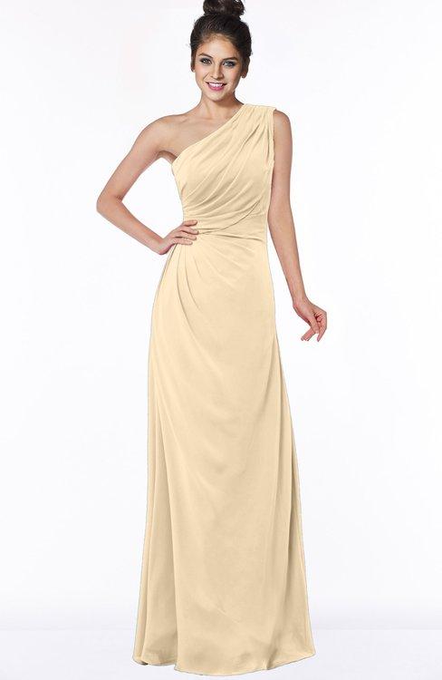 ColsBM Daniela Apricot Gelato Glamorous A-line Sleeveless Zip up Chiffon Ruching Bridesmaid Dresses