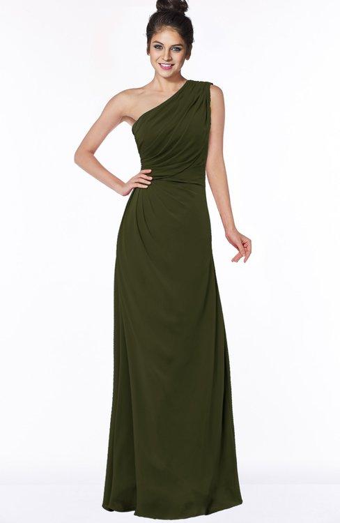 ColsBM Daniela Beech Glamorous A-line Sleeveless Zip up Chiffon Ruching Bridesmaid Dresses
