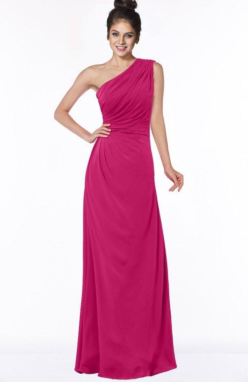 ColsBM Daniela Beetroot Purple Glamorous A-line Sleeveless Zip up Chiffon Ruching Bridesmaid Dresses