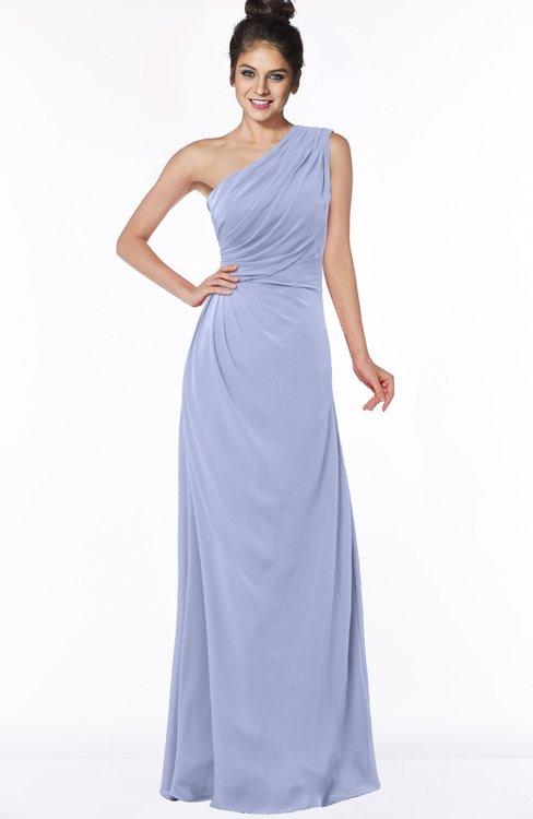 ColsBM Daniela Blue Heron Glamorous A-line Sleeveless Zip up Chiffon Ruching Bridesmaid Dresses