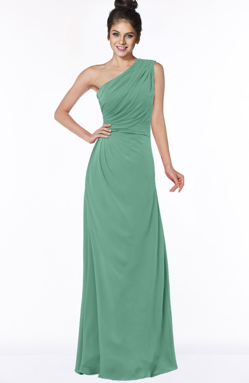 ColsBM Daniela Bristol Blue Glamorous A-line Sleeveless Zip up Chiffon Ruching Bridesmaid Dresses