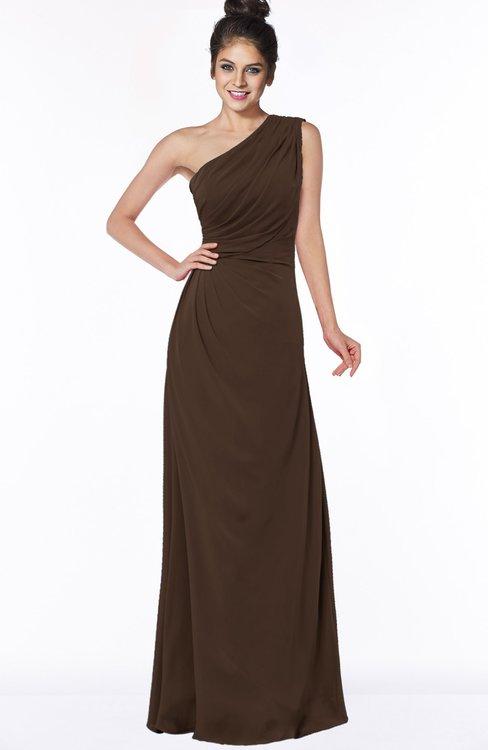 ColsBM Daniela Copper Glamorous A-line Sleeveless Zip up Chiffon Ruching Bridesmaid Dresses