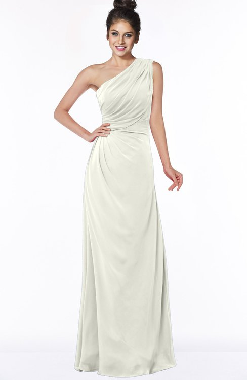 ColsBM Daniela Cream Glamorous A-line Sleeveless Zip up Chiffon Ruching Bridesmaid Dresses