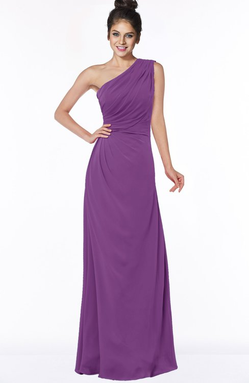 ColsBM Daniela Dahlia Glamorous A-line Sleeveless Zip up Chiffon Ruching Bridesmaid Dresses