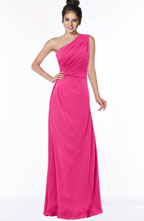 ColsBM Daniela Fandango Pink Glamorous A-line Sleeveless Zip up Chiffon Ruching Bridesmaid Dresses
