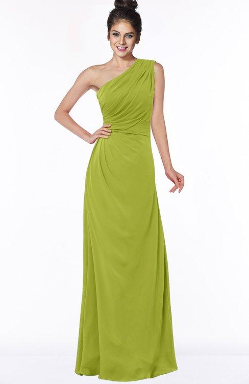 ColsBM Daniela Green Oasis Glamorous A-line Sleeveless Zip up Chiffon Ruching Bridesmaid Dresses