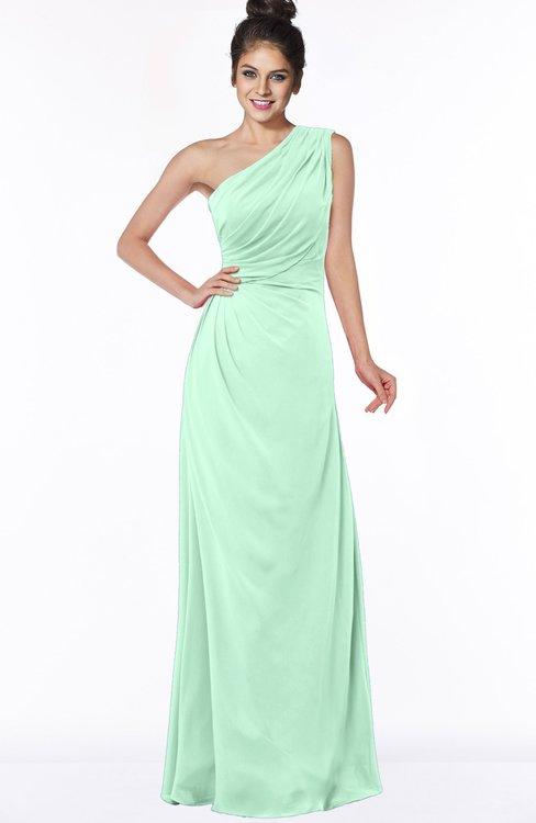 ColsBM Daniela Honeydew Glamorous A-line Sleeveless Zip up Chiffon Ruching Bridesmaid Dresses
