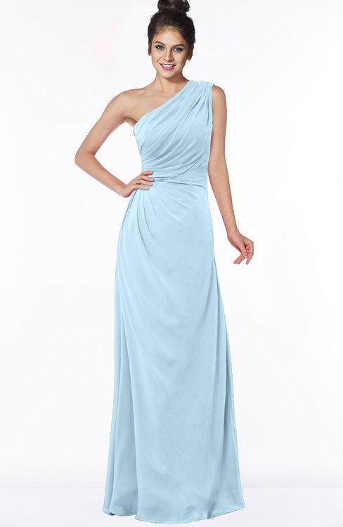 ColsBM Daniela Ice Blue Glamorous A-line Sleeveless Zip up Chiffon Ruching Bridesmaid Dresses