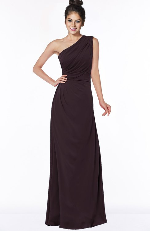 ColsBM Daniela Italian Plum Glamorous A-line Sleeveless Zip up Chiffon Ruching Bridesmaid Dresses