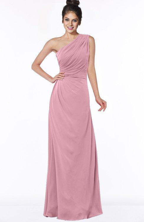ColsBM Daniela Light Coral Glamorous A-line Sleeveless Zip up Chiffon Ruching Bridesmaid Dresses