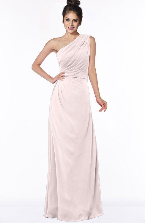 ColsBM Daniela Light Pink Glamorous A-line Sleeveless Zip up Chiffon Ruching Bridesmaid Dresses