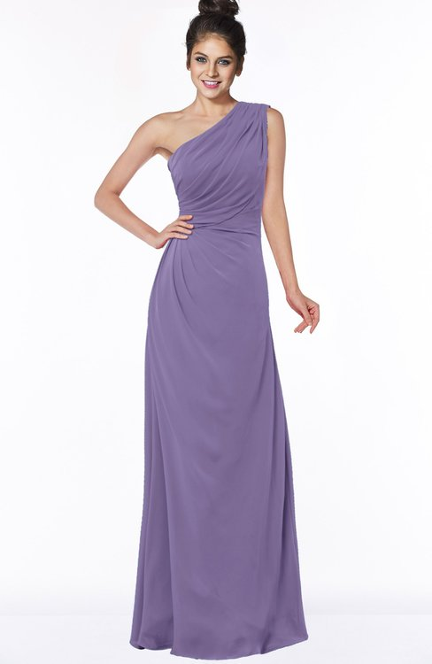 ColsBM Daniela Lilac Glamorous A-line Sleeveless Zip up Chiffon Ruching Bridesmaid Dresses