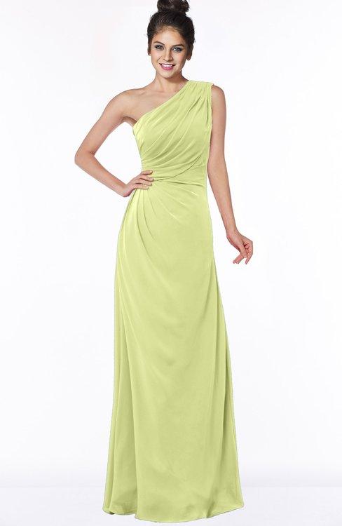 ColsBM Daniela Lime Green Glamorous A-line Sleeveless Zip up Chiffon Ruching Bridesmaid Dresses