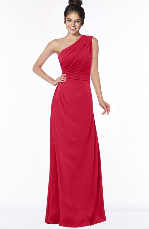ColsBM Daniela Lollipop Glamorous A-line Sleeveless Zip up Chiffon Ruching Bridesmaid Dresses
