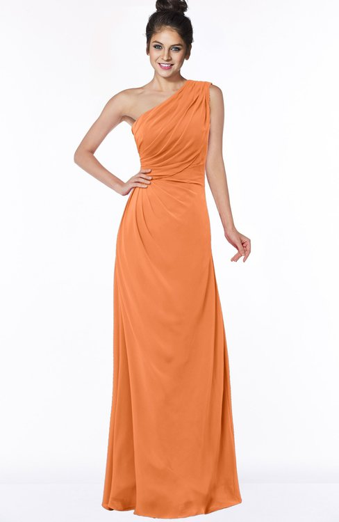 ColsBM Daniela Mango Glamorous A-line Sleeveless Zip up Chiffon Ruching Bridesmaid Dresses