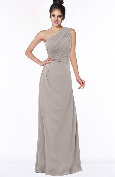 ColsBM Daniela Mushroom Glamorous A-line Sleeveless Zip up Chiffon Ruching Bridesmaid Dresses
