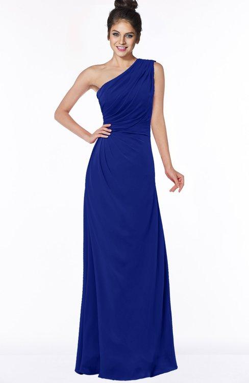 ColsBM Daniela Nautical Blue Glamorous A-line Sleeveless Zip up Chiffon Ruching Bridesmaid Dresses