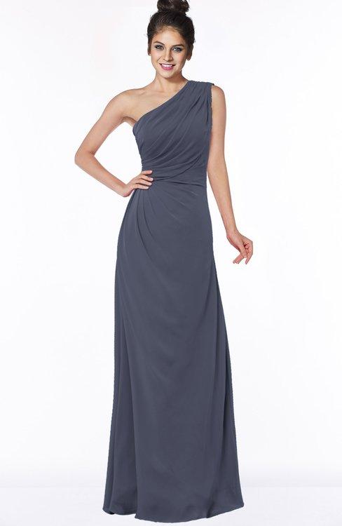 ColsBM Daniela Nightshadow Blue Glamorous A-line Sleeveless Zip up Chiffon Ruching Bridesmaid Dresses