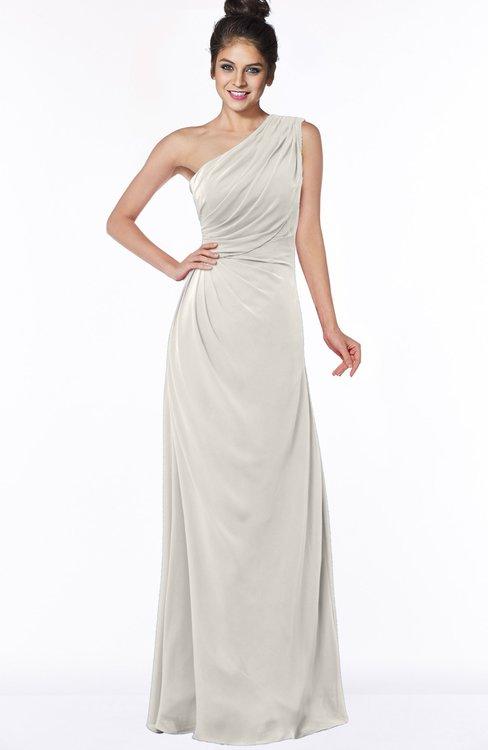 ColsBM Daniela Off White Glamorous A-line Sleeveless Zip up Chiffon Ruching Bridesmaid Dresses