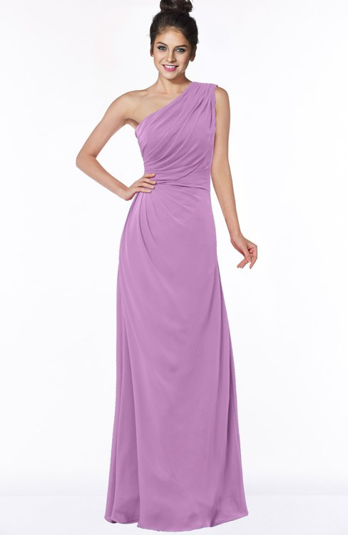 ColsBM Daniela Orchid Glamorous A-line Sleeveless Zip up Chiffon Ruching Bridesmaid Dresses