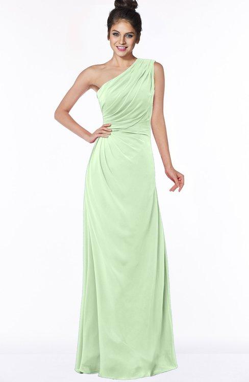ColsBM Daniela Pale Green Glamorous A-line Sleeveless Zip up Chiffon Ruching Bridesmaid Dresses