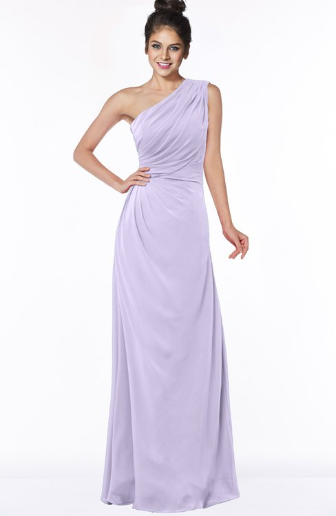 ColsBM Daniela Pastel Lilac Glamorous A-line Sleeveless Zip up Chiffon Ruching Bridesmaid Dresses