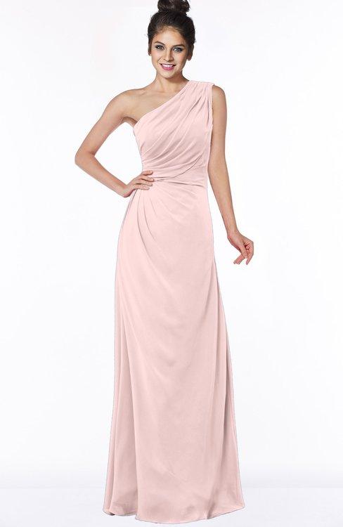 ColsBM Daniela Pastel Pink Glamorous A-line Sleeveless Zip up Chiffon Ruching Bridesmaid Dresses