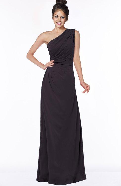 ColsBM Daniela Perfect Plum Glamorous A-line Sleeveless Zip up Chiffon Ruching Bridesmaid Dresses