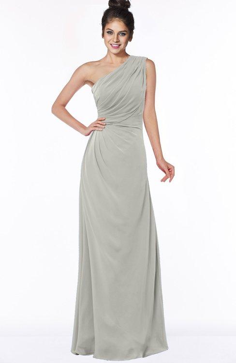ColsBM Daniela Platinum Glamorous A-line Sleeveless Zip up Chiffon Ruching Bridesmaid Dresses