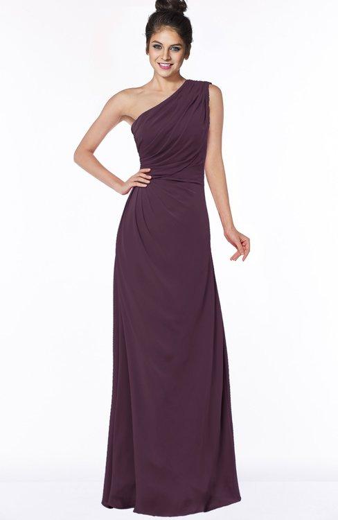 ColsBM Daniela Plum Glamorous A-line Sleeveless Zip up Chiffon Ruching Bridesmaid Dresses
