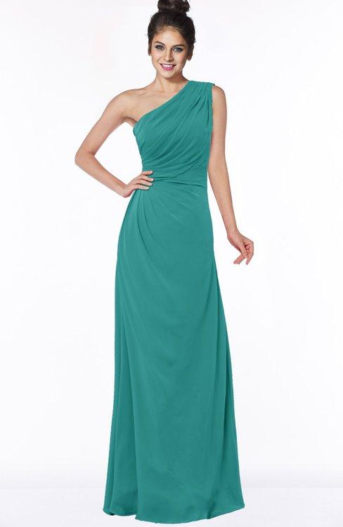ColsBM Daniela Porcelain Glamorous A-line Sleeveless Zip up Chiffon Ruching Bridesmaid Dresses