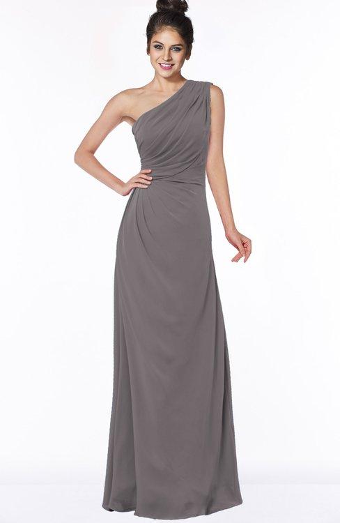 ColsBM Daniela Ridge Grey Glamorous A-line Sleeveless Zip up Chiffon Ruching Bridesmaid Dresses