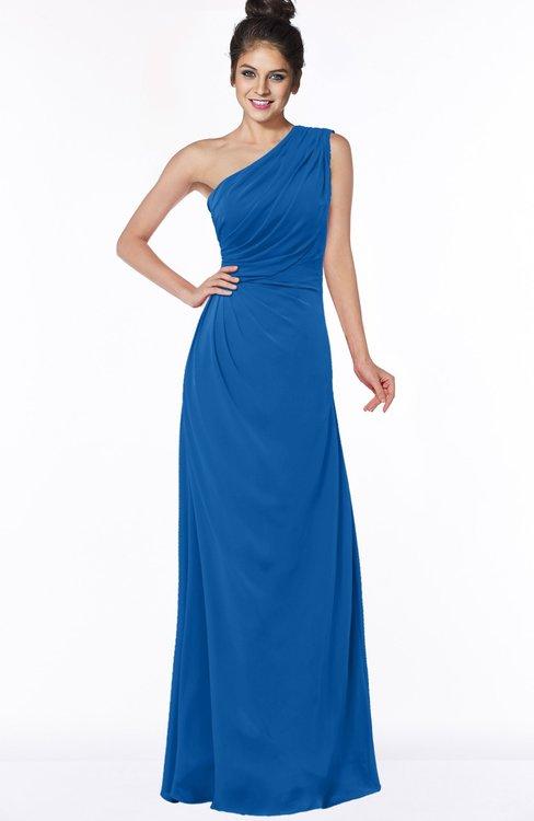 ColsBM Daniela Royal Blue Glamorous A-line Sleeveless Zip up Chiffon Ruching Bridesmaid Dresses