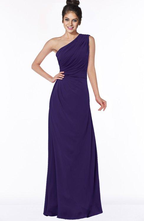 ColsBM Daniela Royal Purple Glamorous A-line Sleeveless Zip up Chiffon Ruching Bridesmaid Dresses