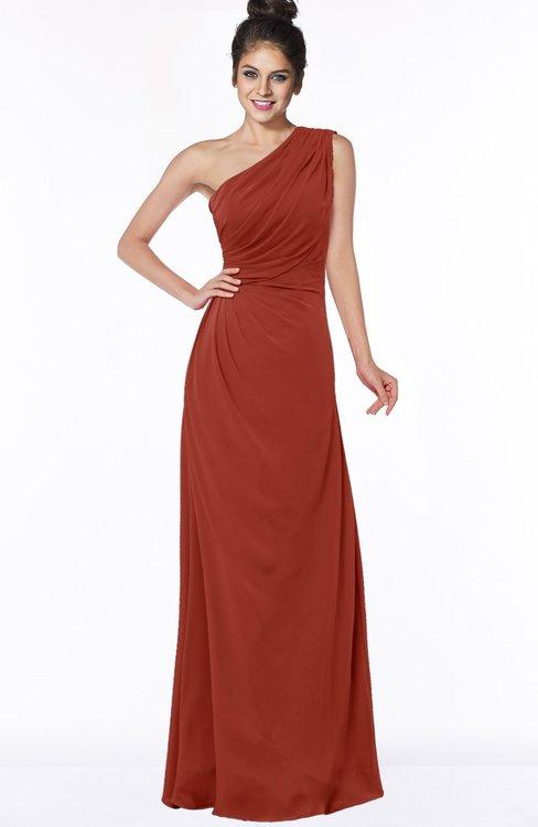 ColsBM Daniela Rust Glamorous A-line Sleeveless Zip up Chiffon Ruching Bridesmaid Dresses