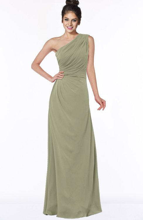 ColsBM Daniela Sponge Glamorous A-line Sleeveless Zip up Chiffon Ruching Bridesmaid Dresses