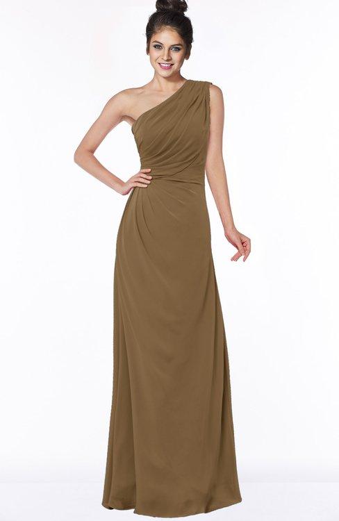 ColsBM Daniela Truffle Glamorous A-line Sleeveless Zip up Chiffon Ruching Bridesmaid Dresses