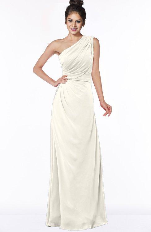ColsBM Daniela Whisper White Glamorous A-line Sleeveless Zip up Chiffon Ruching Bridesmaid Dresses