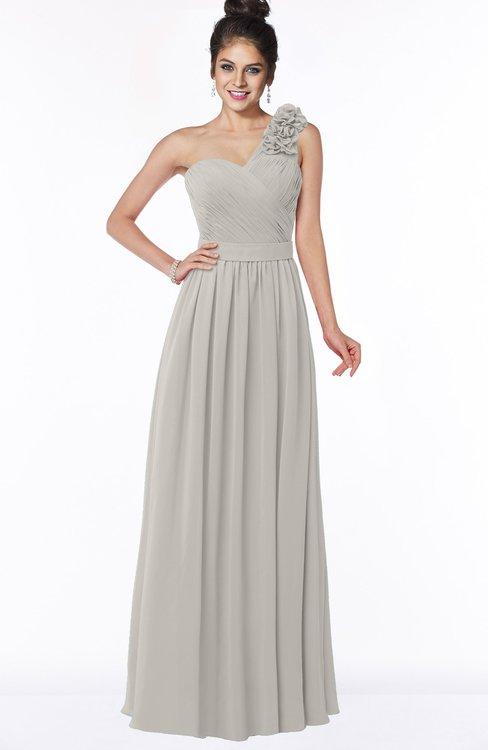 ColsBM Elisa Ashes Of Roses Simple A-line One Shoulder Half Backless Chiffon Flower Bridesmaid Dresses