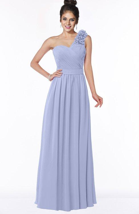 ColsBM Elisa Blue Heron Simple A-line One Shoulder Half Backless Chiffon Flower Bridesmaid Dresses
